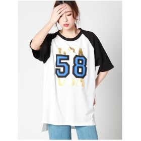 d.i.a. 58ラグランTシャツ クロ