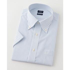 【SALE(三越)】<シャツファクトリー/SHIRT FACTORY> 半袖ストライプワイシャツ(CFN633-450)(MO018N0MO00000GHM) 450サックス 【三越・伊勢丹/公式】