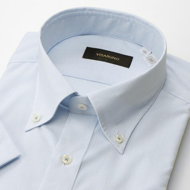 [マルイ] (形態安定加工生地)[半袖ラクチンすっきりYシャツ]/ビサルノ(VISARUNO)