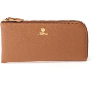 Folna [フォルナ]FolnaシュリンクレザーL型長財布 財布,キャメル