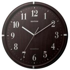 クロック リズム 掛時計 電波 連続秒針 8MY501SR06 RHYTHM