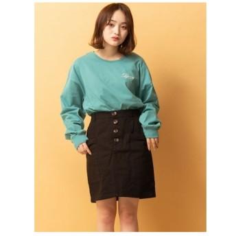 RETRO GIRL ツイルミディポケスカート ブラック