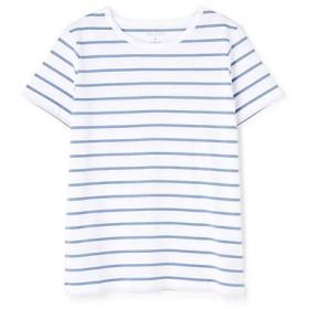 <HUMAN WOMAN/ヒューマンウーマン> 新きょう綿半袖Tシャツ(0779960303) ブルー 【三越・伊勢丹/公式】