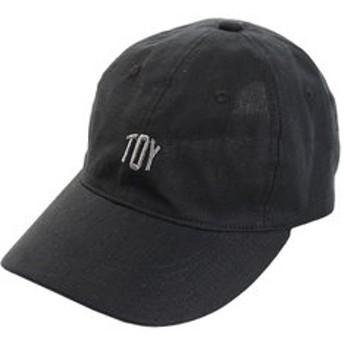 【Super Sports XEBIO & mall店:帽子】リネン刺繍キャップ TOY 897PA9ST1699 BLK