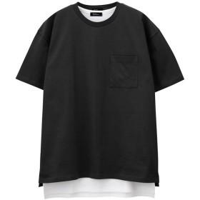 【20%OFF】 マックハウス Real Standard ポケットTシャツ タンク アンサンブル 92 7202P RM メンズ ブラック M 【MAC HOUSE】 【タイムセール開催中】