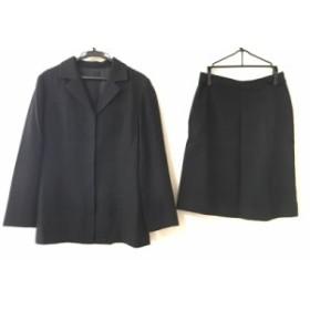 ノーリーズ NOLLEY'S スカートスーツ サイズ36 S レディース 美品 黒 起毛【中古】
