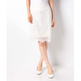 ラナン 美シルエットレースタイトスカート レディース オフホワイト 67 【Ranan】