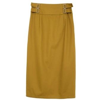 Re: EDIT サイドバックルチノタイトスカート キャメル