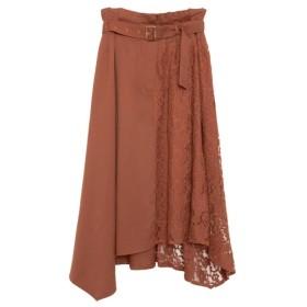 Re: EDIT レース切り替えベルト付きスカート テラコッタ
