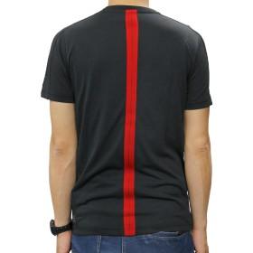 Tシャツ - BIRIGO プーマ メンズ モータースポーツ Tシャツ PUMA 572814 フェラーリ Ferrari サマーTシャツ スポーツ ブランドウェア トップス コラボ レーシング 黒 ブラック 赤 レッド ロッソコルサ クルー 総柄 ライン ロゴ エンブレム