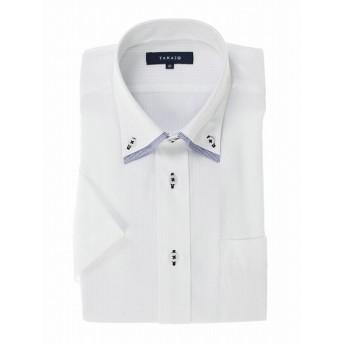 [マルイ]【セール】形態安定レギュラーフィット2枚衿ドゥエボタンダウン半袖シャツ/タカキュー(TAKA-Q)