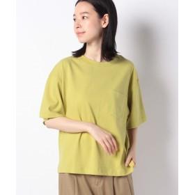 コムサイズム DIC ~日本の伝統色~ ポケット付 Tシャツ レディース イエロー L 【COMME CA ISM】