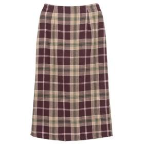 Re: EDIT カラーチェックタイトスカート ボルドー