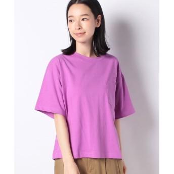 コムサイズム DIC ~日本の伝統色~ ポケット付 Tシャツ レディース ピンク M 【COMME CA ISM】