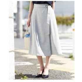 MICHEL KLEIN / 【洗える/セットアップ対応】リネンライクラップ風フレアスカート
