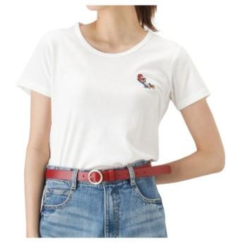 (MAC HOUSE/マックハウス)LOVE-T ウッディー・ウッドペッカー ワンポイント 半袖Tシャツ 9283-4937/レディース ホワイト