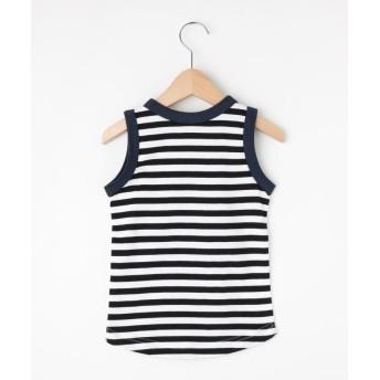 Tシャツ - SHOO・LA・RUE 【90-130cm】ボーダー切替えタンクトップ