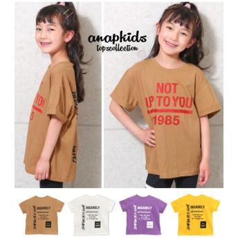 ANAP KIDS アナップキッズ ロールアッププリントBIG-Tシャツ
