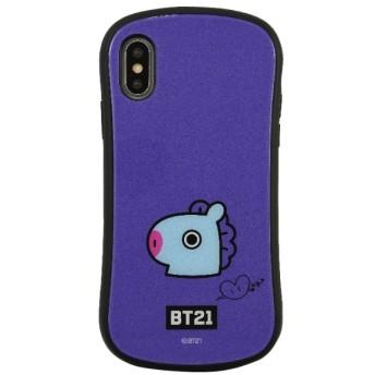 BT21 iPhoneXR対応ハイブリッドガラスケース MANG