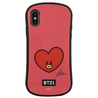 BT21 iPhoneXR対応ハイブリッドガラスケース TATA