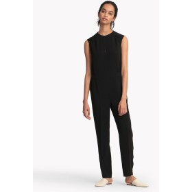 【Theory】Synthetic Crepe Shirred Jumpsuit