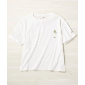 Naughty Dog フェードサーフプリントTシャツ レディース オフシロ