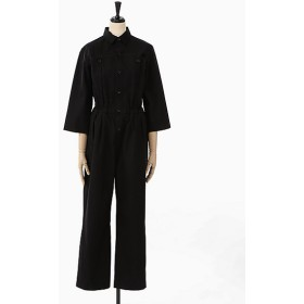 <AURALEE/オーラリー> WASHED CAVALRY TWILL JUMPSUIT(A9ST02CT) BLACK 【三越・伊勢丹/公式】