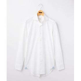 (NOLLEY'S/ノーリーズ)カノコ/トリコット ワイドカラーシャツ/メンズ ホワイト