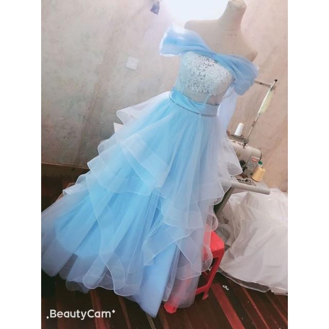 ウエディングドレス用シンデレラ風オーバードレス オーバースカート お色直し