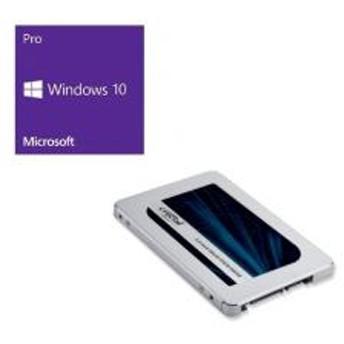 Windows 10 Pro 64Bit DSP + Crucial CT500MX500SSD1/JP バンドルセット
