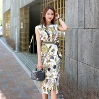 アンティークなデザインがオシャレなひざ丈ワンピース お呼ばれ 大人かわいい ワンピース 結婚式 ドレス フォーマルドレス パーティード