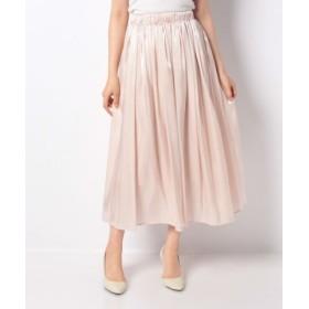 (MEW'S REFINED CLOTHES/ミューズ リファインド クローズ)ギャザーフレアミモレスカート/レディース アイボリー