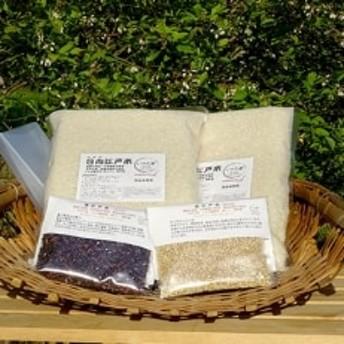 【先行受付 令和元年産米】日向江戸米(白米)5kg+古代米セット