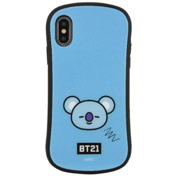 BT21 iPhoneXs/X対応ハイブリッドガラスケース KOYA