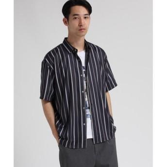 tk.TAKEO KIKUCHI / ティーケー タケオキクチ マイクロスパン レジメンタルストライプシャツ