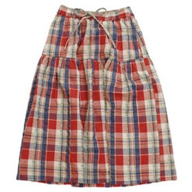 【Super Sports XEBIO & mall店:スカート】マドラス チェック フレア スカート 1847403L-2-RED