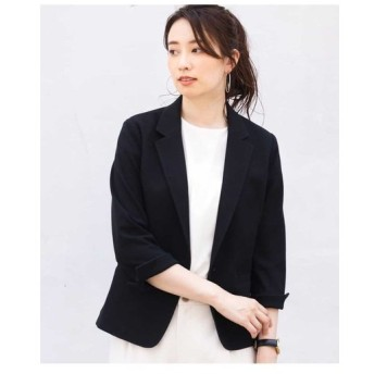MK MICHEL KLEIN / 【洗える】ワッフルテーラードジャケット
