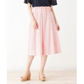 SALE開催中【index:スカート】◆【洗える】ラメタックストライプスカート