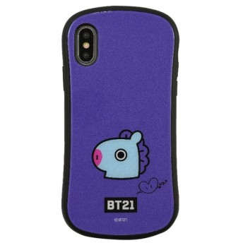 BT21 iPhoneXs/X対応ハイブリッドガラスケース MANG
