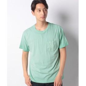 【50%OFF】 コムサイズム 胸ポケット付き Tシャツ ユニセックス ミント L 【COMME CA ISM】 【セール開催中】
