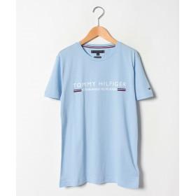 【30%OFF】 トミーヒルフィガー コットンロゴTシャツ メンズ ライトブルー S 【TOMMY HILFIGER】 【セール開催中】