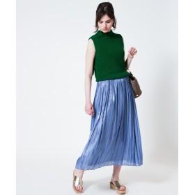 allureville アルアバイル プラチナ割繊サテンギャザースカート