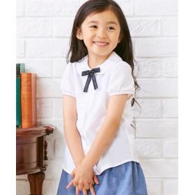 リボン付丸衿半袖ブラウス(女の子 子供服) キッズフォーマル