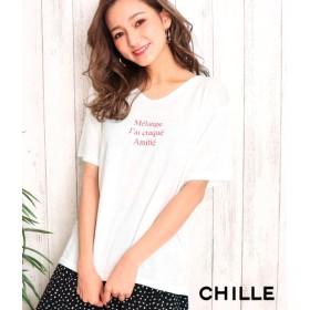 【セール開催中】ANAP(アナップ)フレンチ文字プリントTシャツ