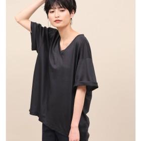 [マルイ]【セール】【洗える】リヨセルVネックTシャツ/ロペマドモアゼル(ROPE' mademoiselle)