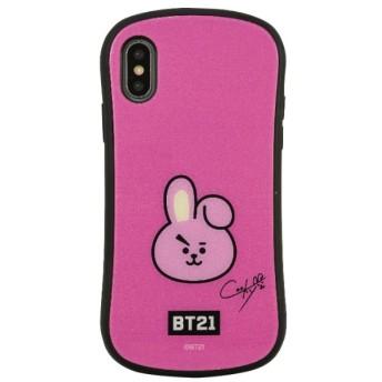 BT21 iPhoneXR対応ハイブリッドガラスケース COOKY