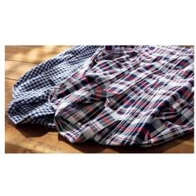 綿100%サッカーシャツパジャマ(男女兼用) S M L LL|8460-207486