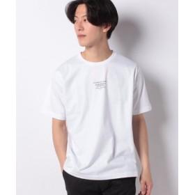 (WEGO/ウィゴー)WEGO/タイポグラフィプリントTシャツ/メンズ ホワイト