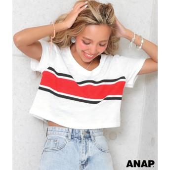 【セール開催中】ANAP(アナップ)センターラインクロップドトップス