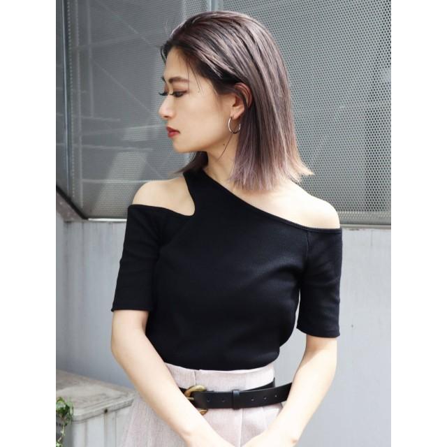 [EMODA]サイドネックTシャツ